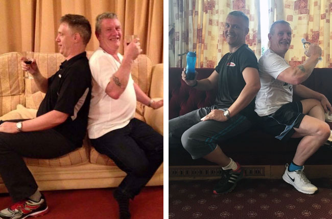 John Roberts & Jack Cartwright before and after photos